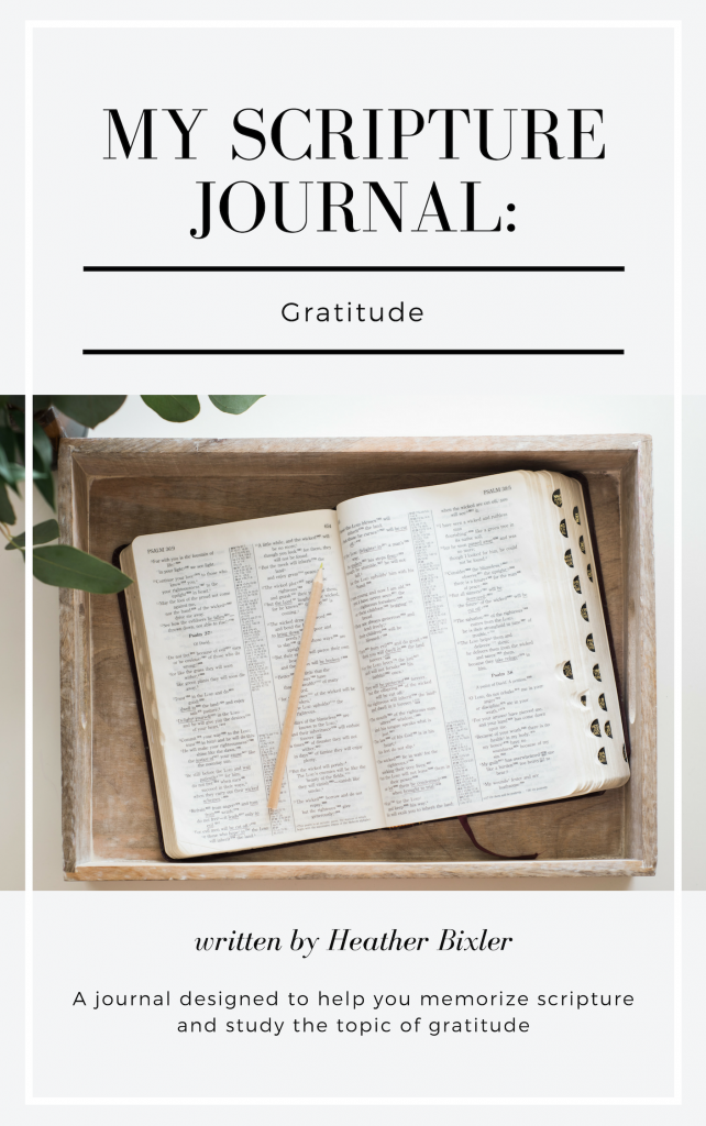 My Scripture Journal: Gratitude by Heather Bixler